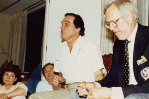 chiropractor Dr Sid Williams, Dr Fred Barge, & Rome Palmer at Dynamic Essentials in 1977